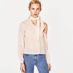 Asymmetric top with neck bow (Zara) - NWT